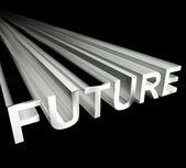 Przyszłości tekst w kolorze białym i 3d jako symbol dla poprawy i japończy — Zdjęcie stockowe