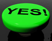 Yes Button As Symbol For Approval Or Acceptance — Stock Photo