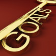 Stock Photo: Goals Key Representing Aspirations And Intent