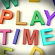 Play Time Written In Kids Letters - Stock Photo
