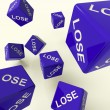 Lose Dice Representing Defeat And Loss — Stock Photo
