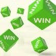 Win Dice Representing Triumph And Success - Stock Photo