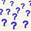 Multiple Question Marks As Symbol For Information — Stock Photo #8136287