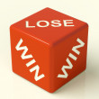 Lose Red Dice Represent Gambling And Losing — Stock Photo