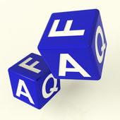 Faq Dice As Symbol For Information Or Answers — Stock Photo
