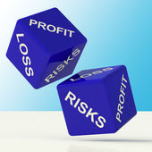 Profit Loss And Risks Dice Showing Market Risk — Stock Photo