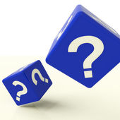 Question Mark Dice As Symbol For Questions And Answers — Stock Photo