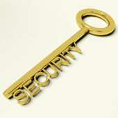 Security Key Representing Safety And Encryption — Stock Photo