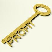 Profit Key Representing Market And Trade Success — Stock Photo
