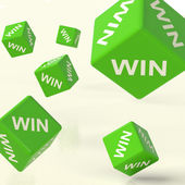 Win Dice Representing Triumph And Success — Stock Photo