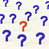 Multiple Question Marks As Symbol For Questions And Answers — Stock Photo
