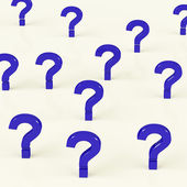 Multiple Question Marks As Symbol For Information — Stock Photo