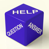 Question Answer And Help Dice As Symbol For Information — Stock Photo