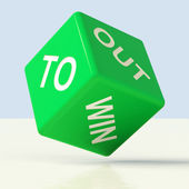 Out To Win Dice Representing Desire To Achieve — Stock Photo