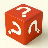 Question Mark Dice As Symbol For Information — Stock Photo
