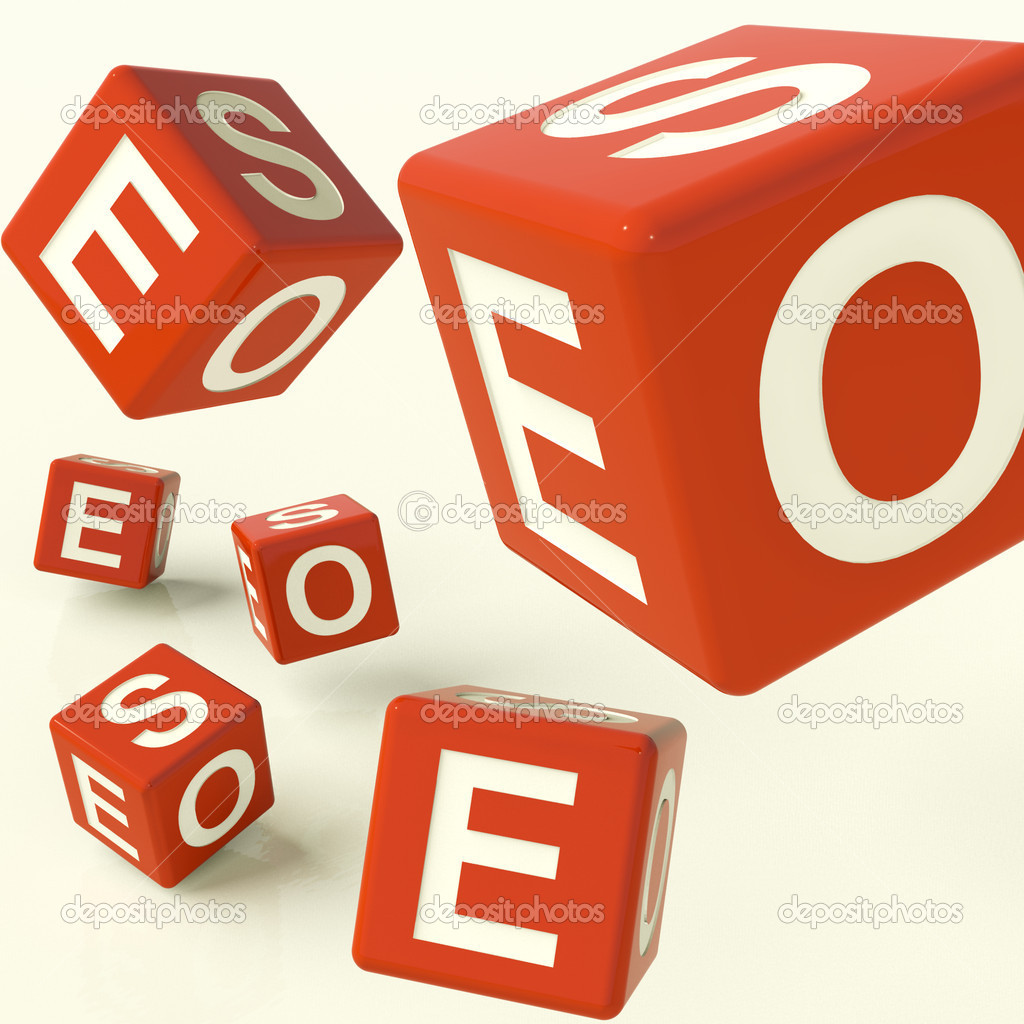 Seo Red Dice Representing Internet Optimization And Development — Stock Photo #8136273