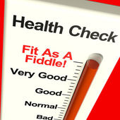 Health Check Very Fit On Monitor Showing Healthy Condition — Stock Photo