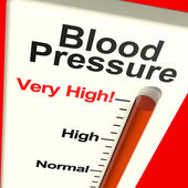 Very High Blood Pressure Showing Hypertension And Stress — Foto de Stock