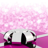 Pink Giftbox With Bokeh Background For Womens Birthday — Photo