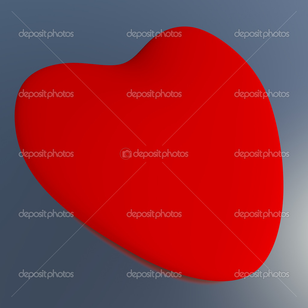 Heart On A Blue Background Showing Love Romance And Valentine — Stock Photo #8506906