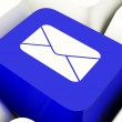 Stock Photo: Envelope Computer Key In Blue For Emailing Or Contacting