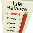 Life Balance Harmony Meter Shows Lifestyle And Job Desires — Lizenzfreies Foto