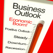 Stock Photo: Business Outlook Economic Boom Monitor Shows Growth And Recovery