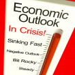 Stock Photo: Economic Outlook In Crisis Monitor Showing Bankruptcy And Depres