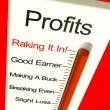 Business Profits Very High Showing Rising Sales And Income — Stok fotoğraf