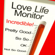 Love Life Meter Incredible Showing Great Relationship — Foto Stock #8511454