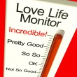 Stock Photo: Love Life Meter Incredible Showing Great Relationship