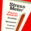 Stress Meter Showing  Panic Attack From Stress Or Worry — Foto de Stock
