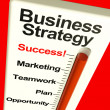 Business Strategy Success Showing Vision And Motivation - ストック写真