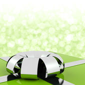 Green Giftbox With Bokeh Background For Mens Birthday — Photo