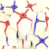 Stack Of Giftboxes As Presents For The Family And Friends — 图库照片