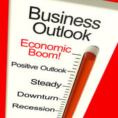 Business Outlook Economic Boom Monitor Shows Growth And Recovery — Stock Photo