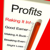 Företagens vinster mycket hög visar stigande försäljning och resultat — Stockfoto