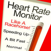 Heart Rate Monitor Very Fast Showing Quick Beats — Stock Photo