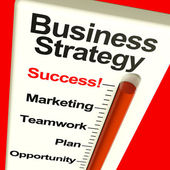 Business Strategy Success Showing Vision And Motivation — Stock Photo