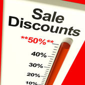 Fifty Percent Sale Discounts Showing Bargain Closeout Selloff — Stock Photo