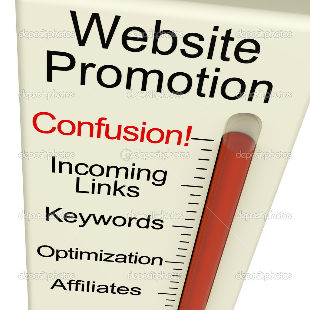 Website Promotion Confusion Shows Online SEO Strategies And Development — Stock Photo #8511447