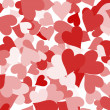 Paper Hearts Background Showing Love Romance And Valentines — Stock Photo