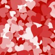 Paper Hearts And Red Background Showing Love Romance And Valenti — Stock Photo