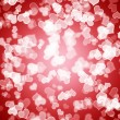 Red Hearts Bokeh Background Showing Love Romance And Valentines — 图库照片