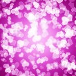 Mauve Hearts Bokeh Background Showing Love Romance And Valentine — Stock Photo