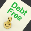 Debt Free Switch Showing Recovery From Poverty And Being Broke — Stock Photo