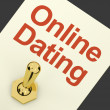 Online Dating Switch On Showing Romance And Love — Stock Photo