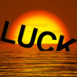 Luck Word Sinking Showing Unlucky And Misforture — Stock Photo #9106046