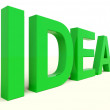 Idea Word In Green Showing Concept Or Creativity — Stock Photo #9106171