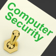 Computer Security Switch Shows Laptop Interet Safety — Stock Photo